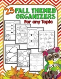 Fall Graphic Organizers Activities: Graphic Organizers for