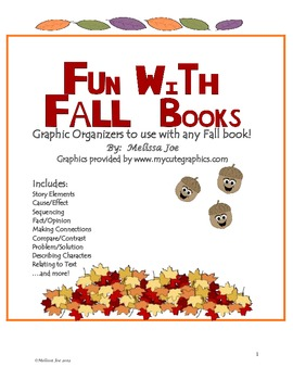Comprehension Reading Response Sheets To use with any Fall book