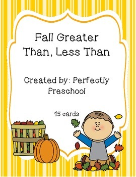 Fall Greater Than Less Than Cards