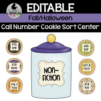 Fall & Halloween Call Number Cookie Sort Library Center