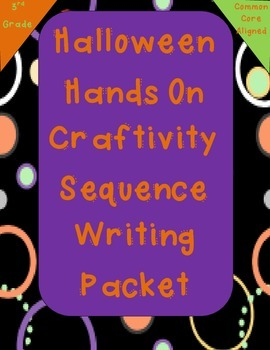 Fall Halloween Hands On Writing Craftivity for Sequencing