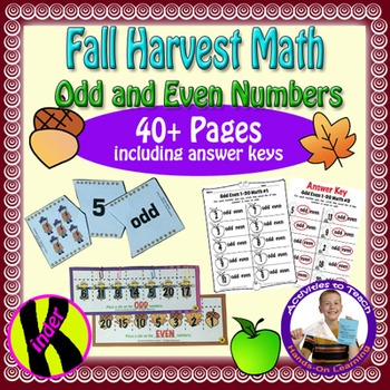 Fall Halloween Harvest Odd Even Math for Young Learners