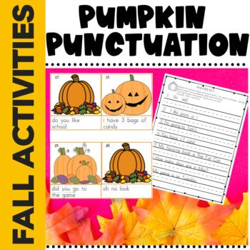 Halloween Fall Pumpkin Punctuation Common Core Aligned L1.