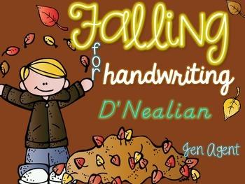 Fall Handwriting {D'Nealian}
