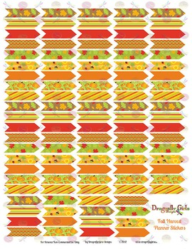 Fall Harvest 110 Arrows Printable Planner Stickers