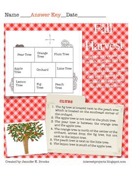 Fall Harvest Answer Key