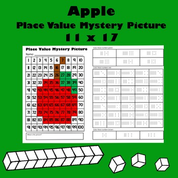 Fall Harvest Apple Place Value Math Mystery Picture - 11x1