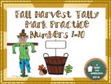 Fall Harvest Tally Mark Practice 1-10 *Freebie*