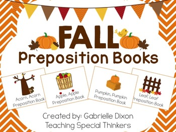 Fall Interactive Preposition Books {Apples, Acorns, Leaves