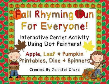 Fall Into Fun With Rhyming! ~Interactive Center Using Dot