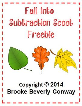 Fall Into Subtraction SCOOT Freebie