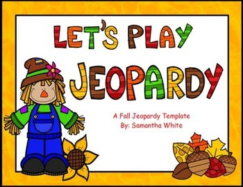 Fall Jeopardy Template {ActivInspire Flipchart}