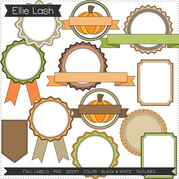 Fall Labels Digital Clipart