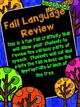 Fall Language Review Craftivity