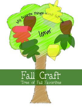 Fall Leaf Craft - activity with leaves on trees craftivity
