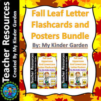 Fall Leaf Letter Flashcards and Posters Bundle