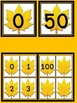 Fall Leaf Number Flashcards and Posters Bundle 0-100