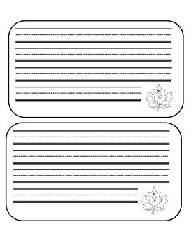 Fall Leaf Primary Writing Paper