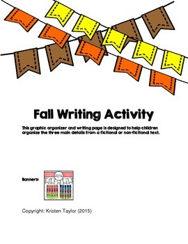 Fall Leaf Writing - Main Idea and Details Graphic Organizer