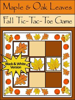 Fall Leaves Activities: Maple & Oak Leaves Fall-Thanksgivi