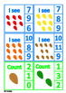 Fall Leaves Autumn Counting 1-10 Number Clip Cards , Autis