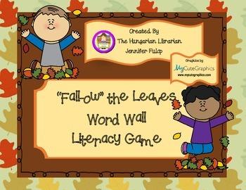 Fall Word Wall Board Game