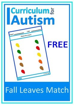 Fall Leaves Autumn Matching FREEBIE, Autism , Special Educ