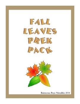 Fall Leaves PreK Printable Learning Pack
