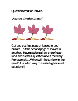 Fall Leaves Question Creation