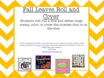 Fall Leaves Roll and Cover