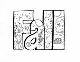 'Fall' Letter Design