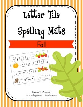 Fall Letter Tiles Spelling Mat
