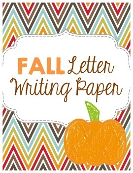 Fall Letter Writing Paper