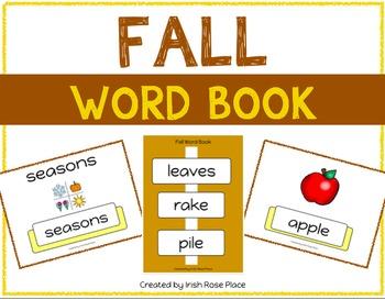 Fall Leveled Word Books (Adapted Books)