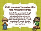 Fall Listening Comprehension and Articulation Pack