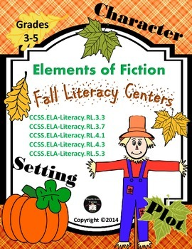 Fall Literacy Centers or Small Group Activities  (Elements