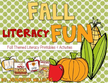 Fall Literacy Pintables and Activities