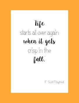 Fall Literacy Poster 4- Fitzgerald