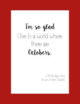 Fall Literacy Poster- Montgomery