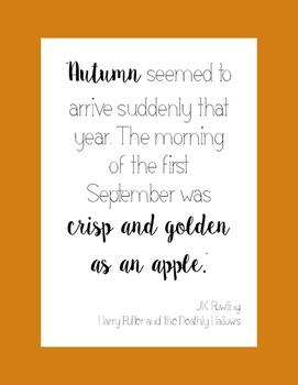 Fall Literacy Poster- JK Rowling