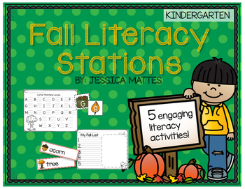 Fall Literacy Stations - Kindergarten