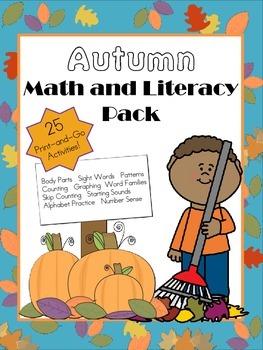 Fall Literacy and Math Bundle