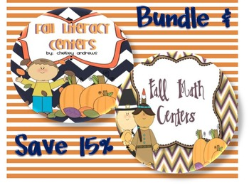 Fall Literacy and Math Center Super Bundle!