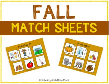 Fall Match Sheets