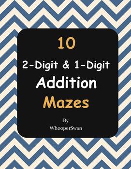 2-Digit and 1-Digit Addition Maze