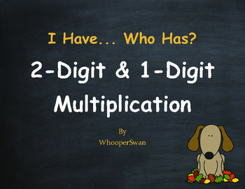 Fall Math: 2-Digit and 1-Digit Multiplication - I Have, Who Has