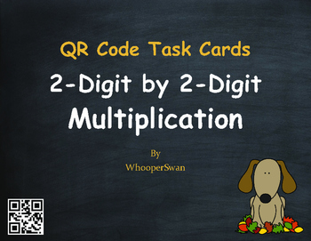Fall Math: 2-Digit by 2-Digit Multiplication QR Code Task Cards
