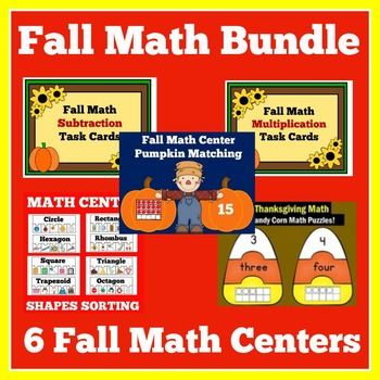Fall Math Centers | Thanksgiving Math Centers