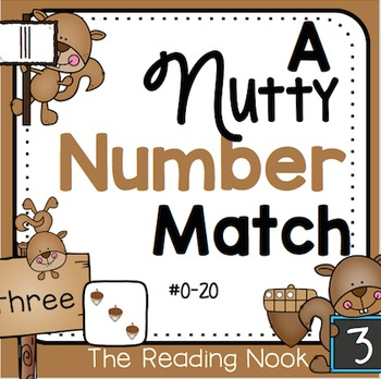 Fall Number Sense Match Up