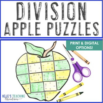 Back to School Math Centers: Division Apple Puzzles